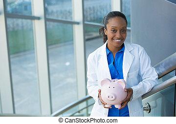 Healthcare savings - Closeup portrait, healthcare...