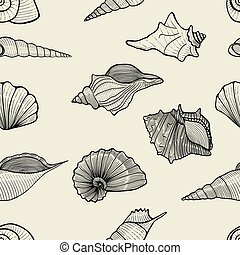 sea vector seamless pattern - seamless pattern background of...