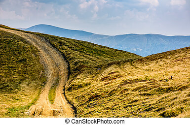 path through the mountain hill in summer - summer mountain...