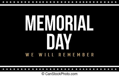 Memorial day background style collection vector illustration