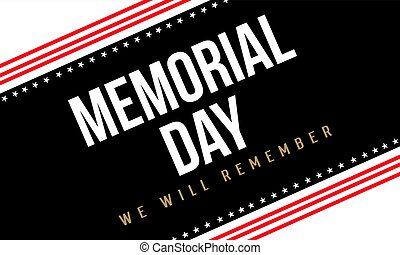 Collection of memorial day background vector illustration
