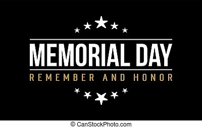 Memorial day background vector art collection stock