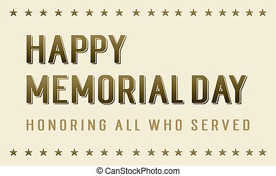 Happy memorial day background style vector illustration