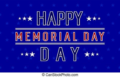Happy memorial day background collection vector illustration