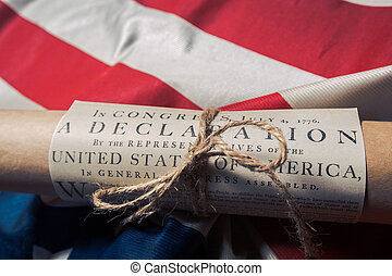 United States Declaration of Independence on a Betsy Ross...