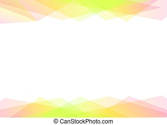 green and orange geometric spectrum abstract background