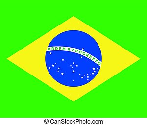 Colored flag of Brazil