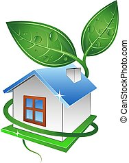 Eco House Symbol for Construction