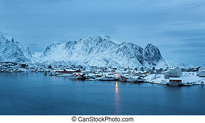Reine fishing village, Lofotens - Reine fishing village in...