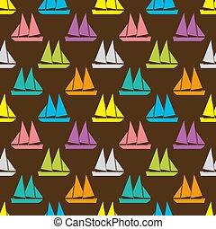 Boat seamless pattern
