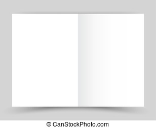 White stationery: blank twofold paper brochure on gray...