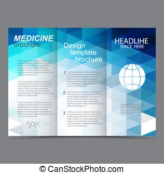 brochure design template abstract triangles - brochure...