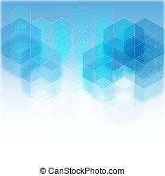 Blue geometric background with place for text eps10