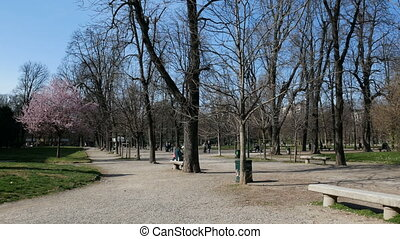 Gardens of Porta Venezia in early spring - Indro Montanelli...