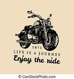 Life is a journey enjoy the ride inspirational poster.Vector...