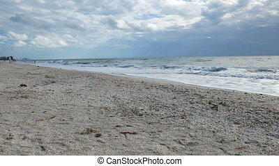 Panoramic view of the Barefoot Beach State Preserve in...