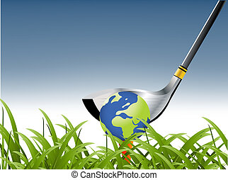 Golf Sport concept illustration