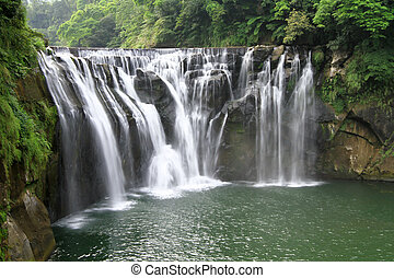 the shifen waterfall in pingxi, Taipei, Taiwan - the shifen...