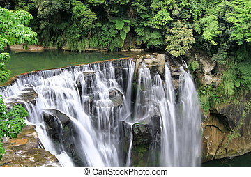 shifen waterfall in pingxi, Taipei, Taiwan - the shifen...