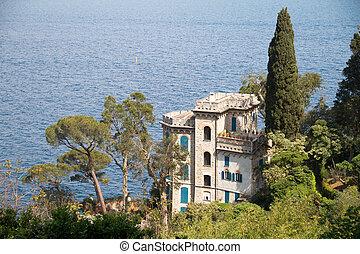 Portofino Italy - famours castle in portofino italy