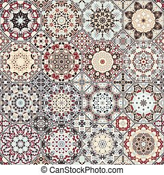 Set of octagonal and square patterns. - Set of octagonal and...