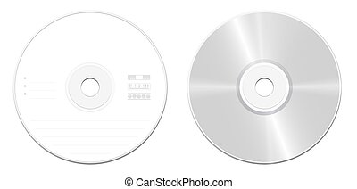 CD Compact Disc Front Back - CD or DVD standard model -...