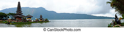 Pura Ulun Danu Bratan, Hindu temple on Bratan lake, Bali,...