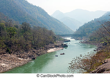 The holy river Ganges in India near Laxman Jhula
