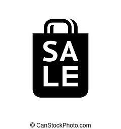 black shopping icon