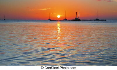 Dawn at the Caye Caulker Island