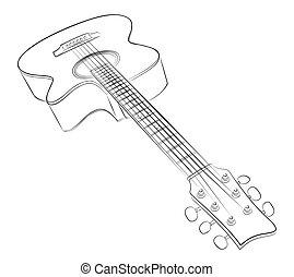 Guitar sketch.