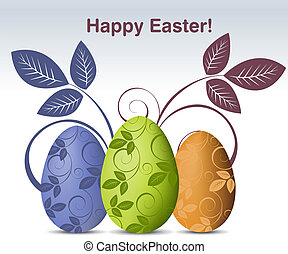 Vector illustration - Simple colored illustration for Easter...