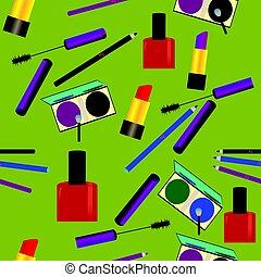 Seamless pattern with make up objects.eps