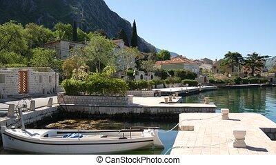 Ljuta village in the Bay of Kotor, in Montenegro.