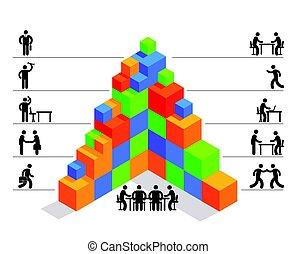 Aufbau Planen - Management Business Icon illustration