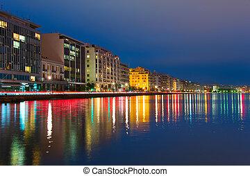 Thessaloniki skyline at twilight, Greece - Beautiful...