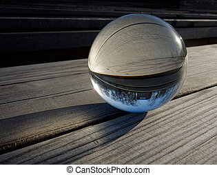 Glass ball refraction - Backgrounds and textures: glass ball...