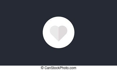 Super Like Animation - Animated like symbol. Heart icon...