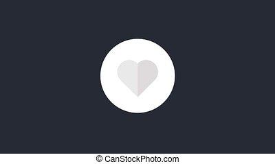 Super Like Animation - Animated like symbol. Heart icon...