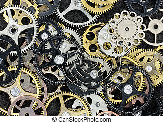 Vintage Machine Parts - Assortment of gears and other...