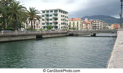 River in Rapallo, Italy