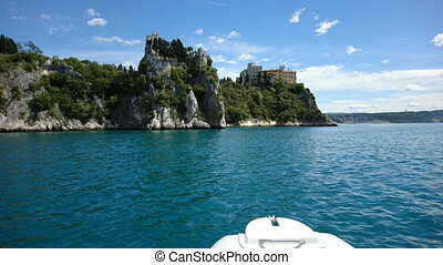 Duino Castle seen from the sea - Duino Castle, a fourteenth...