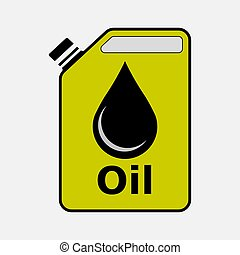 icon canister with oil, gasoline, petrol