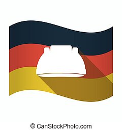 Isolated Germany flag with a work helmet
