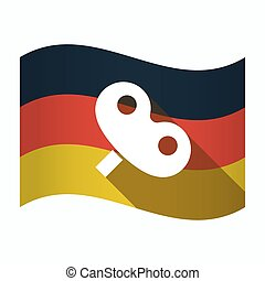 Isolated Germany flag with a toy crank - Illustration of an...
