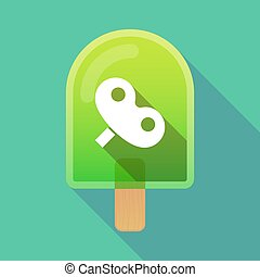Long shadow ice cream with a toy crank - Illustration of an...
