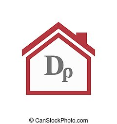 Isolated house with a drachma currency sign - Illustration...