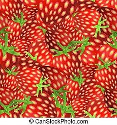 Fresh Strawberry Fruit Seamless Pattern