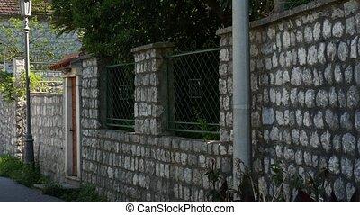 Stone fence in Montenegro. Villa near the sea. - Stone fence...
