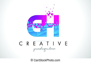 azul, quebrantado, carta, G, H, textura, roto, rosa, diseño,...